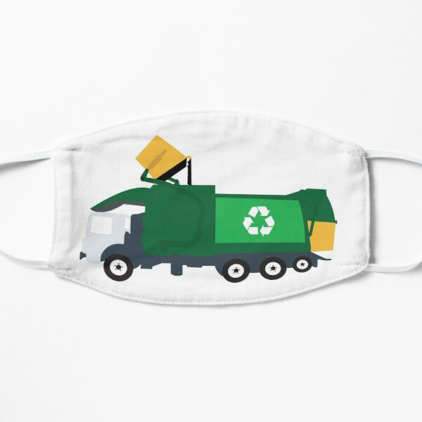 Recycling Garbage Truck Flat Mask