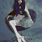 Ask Alice - Conceptual Portrait Art  by Galen Valle