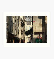 Rue des Rosiers Art Print