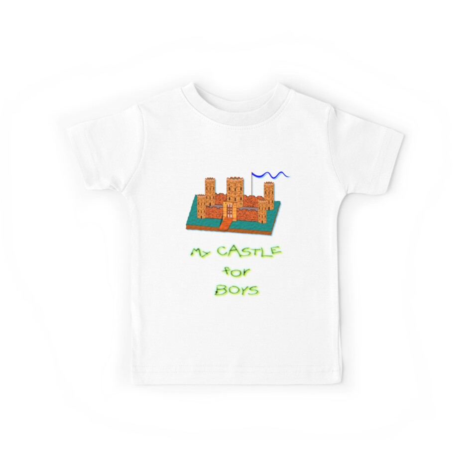My Castle for Boys T-shirt by Dennis Melling