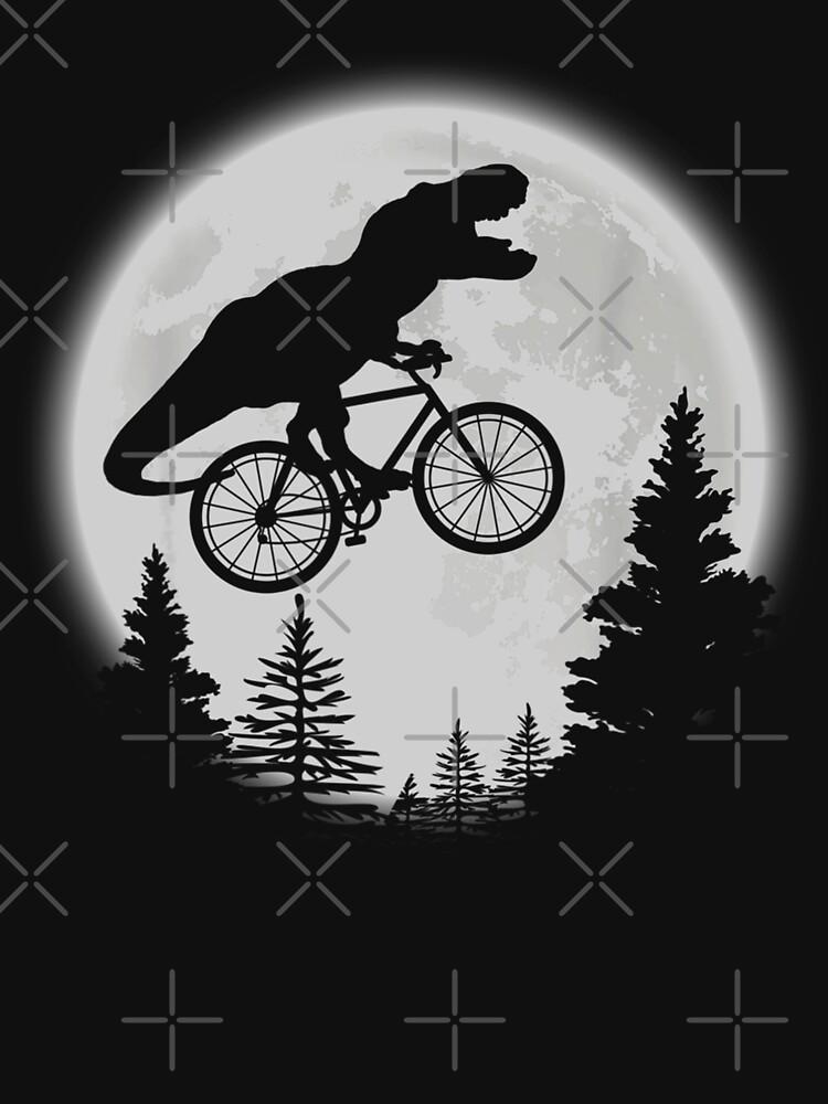 T-Rex Cycling Moon Bike Dinosaur Riding Bicycle Funny Biking by ChenXiuying