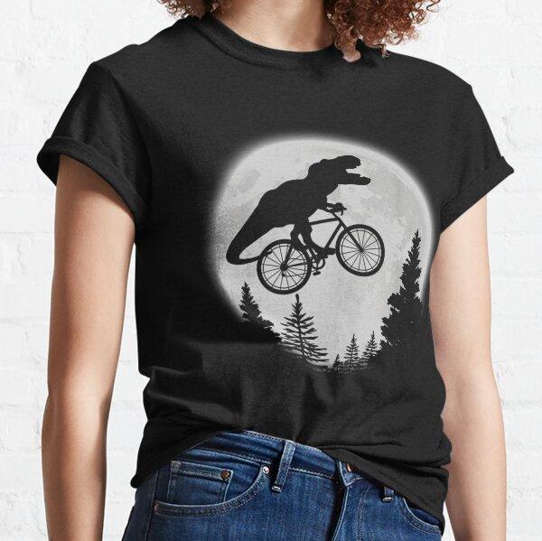 T-Rex Cycling Moon Bike Dinosaur Riding Bicycle Funny Biking Classic T-Shirt