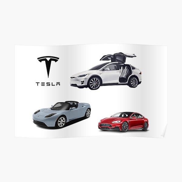 TESLA car model collection Poster