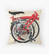 Brompton Bicycle Folded Throw Pillow