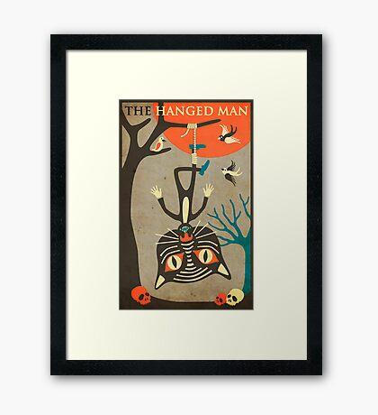 Tarot Card Cat: The Hanged Man Framed Print