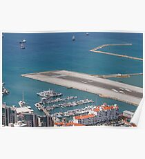 Gibraltar International Airport, the runway, view from a A320 Poster