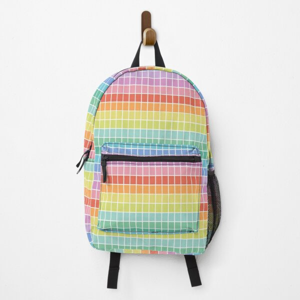 Rainbow Checkers Backpack