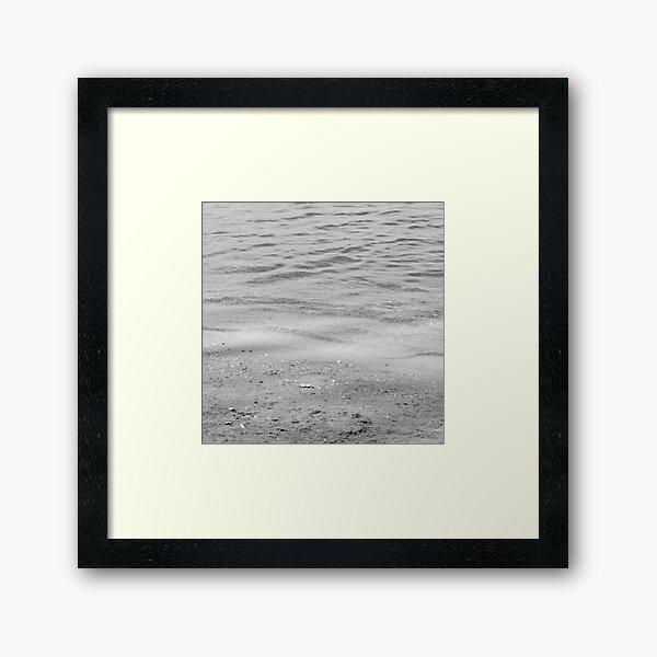 black and white seashore textures Framed Art Print