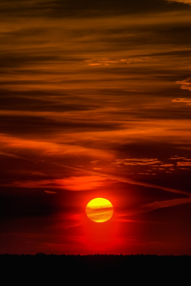 The Sun Shining Over Low Cloud by GrishkaBruev