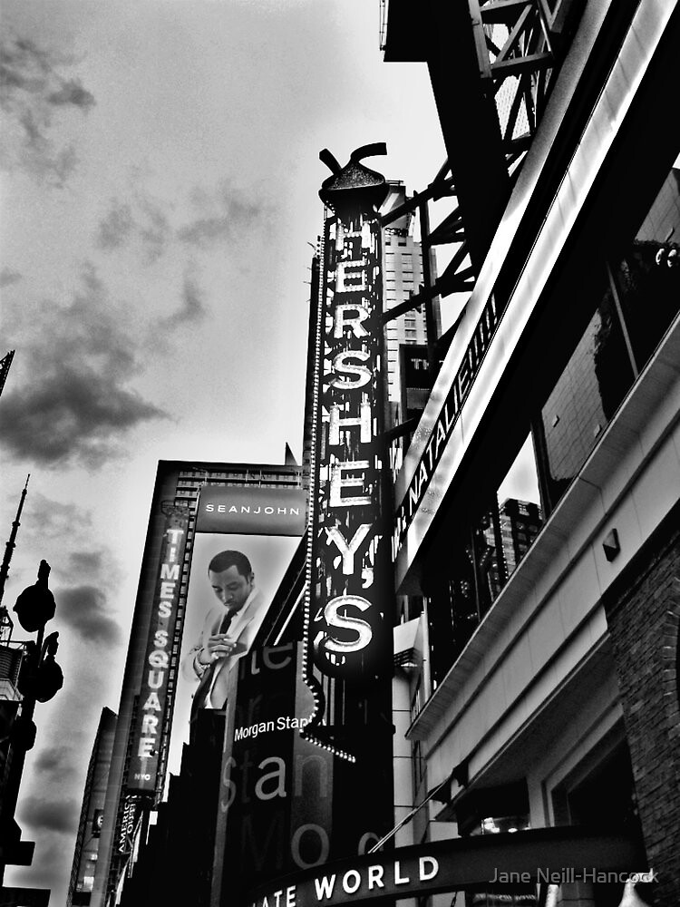 HERSHEY'S Times Square, NYC (in Black and White) by Jane Neill-Hancock