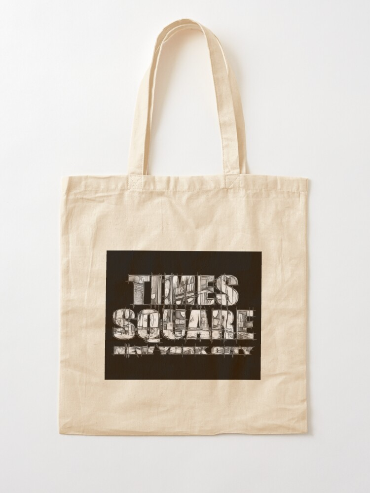 Alternate view of Times Square New York City (B&W marker sketch on black) Tote Bag