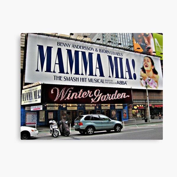 Mamma Mia, Winter Garden Theatre, Times Square, NYC Canvas Print