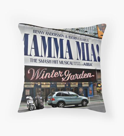 Mamma Mia, Winter Garden Theatre, Times Square, NYC Throw Pillow