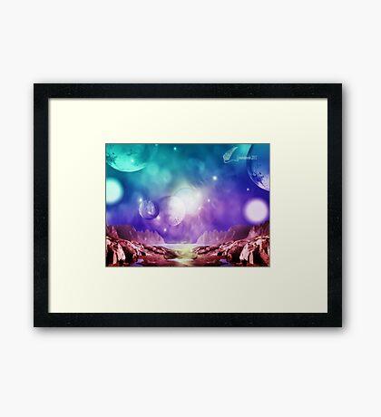Planet visits Framed Print