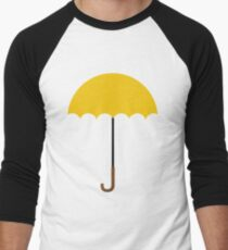 Flat Yellow Umbrella Men's Baseball ¾ T-Shirt