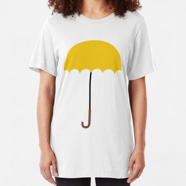 Flat Yellow Umbrella Slim Fit T-Shirt