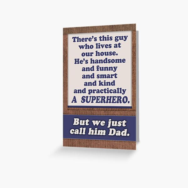 Happy Father's Day, Superhero Dad. Greeting Card