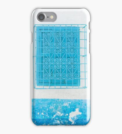 Pale Blue and Light Blue Shuttered Windows iPhone Case/Skin