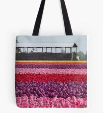A Rainbow of Tulips Tote Bag