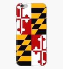 Vinilo o funda para iPhone Estuche para Smartphone - Bandera Estatal de Maryland - Vertical