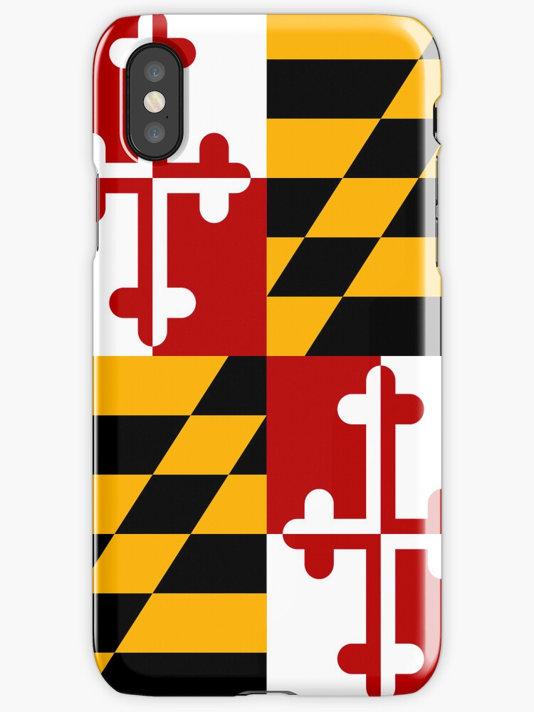 Smartphone Case - State Flag of Maryland  - Vertical by mpodger