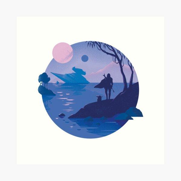 Galaxy blues Art Print