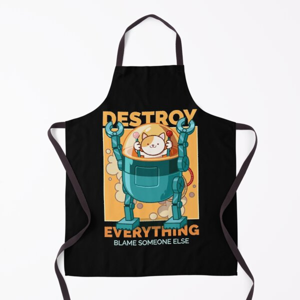 Robotic cat, blame someone else Apron