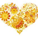 Flowery Heart by SandraWidner