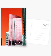 Skyscraper Red Postcards