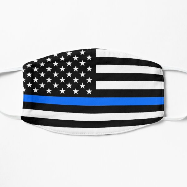 Thin Blue Line / Police / Law Enforcement / USA Flag Mask