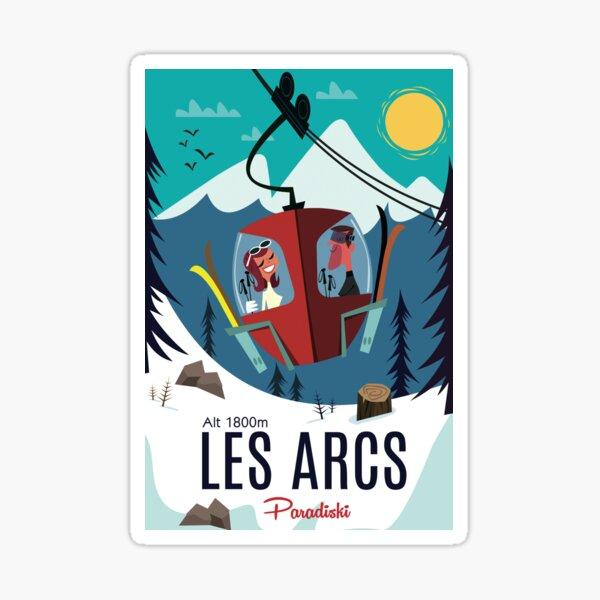 Les Arc poster Sticker