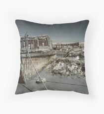 Stranded On The Marsh Throw Pillow