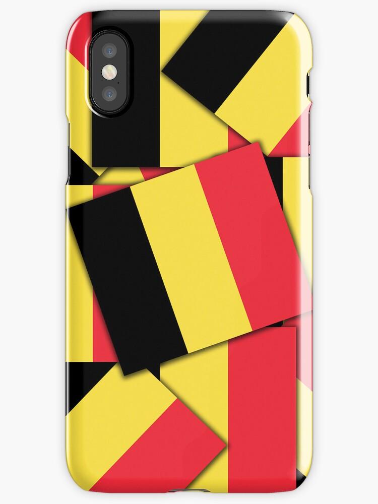 Smartphone Case - Flag of Belgium  - Multiple by Mark Podger