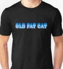 OLD FAT CAT Blue Fade Design Unisex T-Shirt