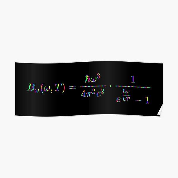 Planck's law of black-body radiation, Physics Poster