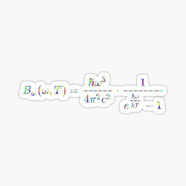 Planck's law of black-body radiation, Physics Glossy Sticker
