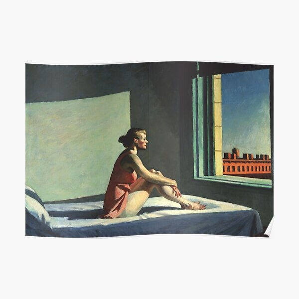 Morning Sun - Edward Hopper (1952) Poster