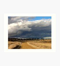 Storm clouds at Gara Art Print