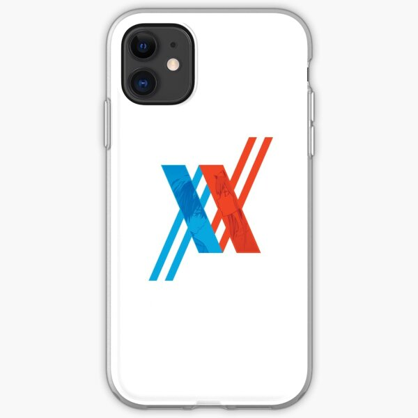 Darling in The FranXX Logo, Hiro and Zero Two iPhone Soft Case
