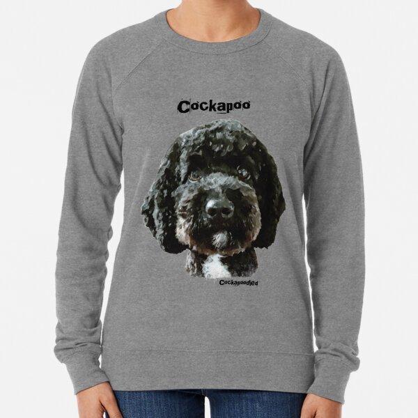 Black Cockapoo Dog  Lightweight Sweatshirt