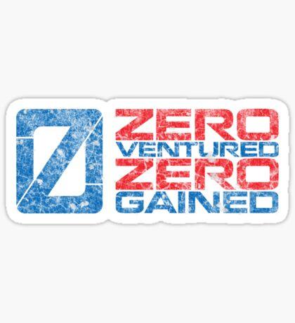 Zero Ventured Zero Gained Patriotic Numero Sticker