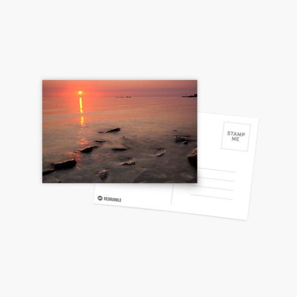 Lake Michigan, Sunset Postcard