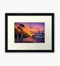 Sunset at Sandgate Framed Print