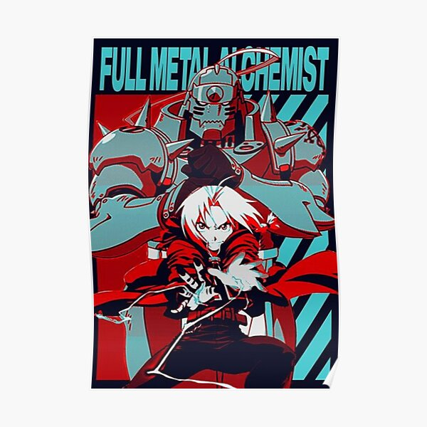 Edward y Alphonse Elric Fullmetal Alchemist Brotherhood Póster
