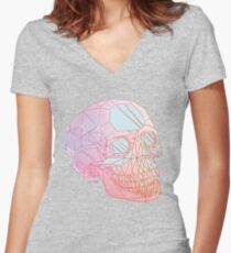 Crystal Skull Women's Fitted V-Neck T-Shirt
