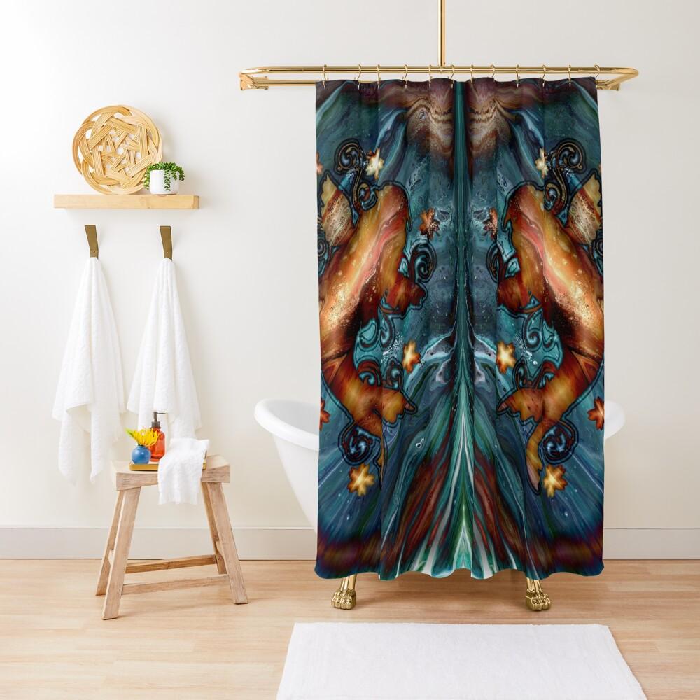 Happy Goldfish Shower Curtain