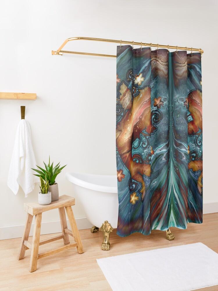Alternate view of Happy Goldfish Shower Curtain