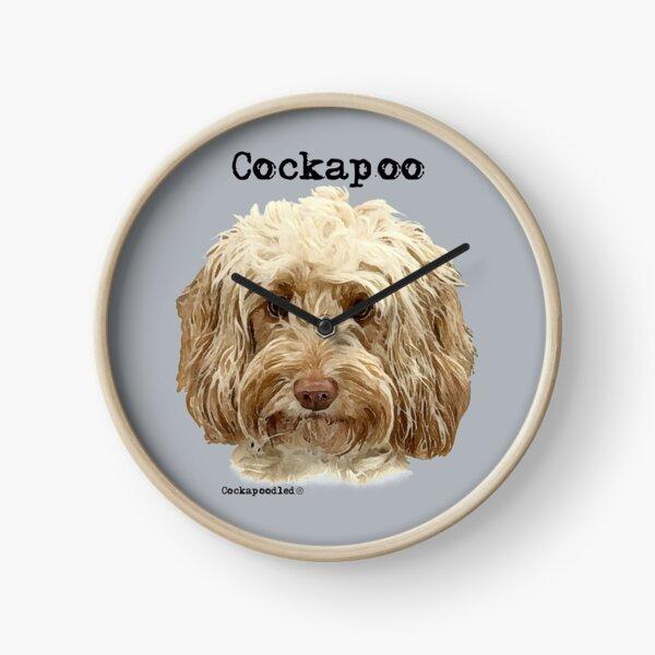 Apricot Cockapoo Dog Clock