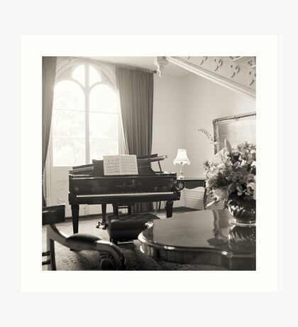 Grand Piano—Government House Tasmania Art Print
