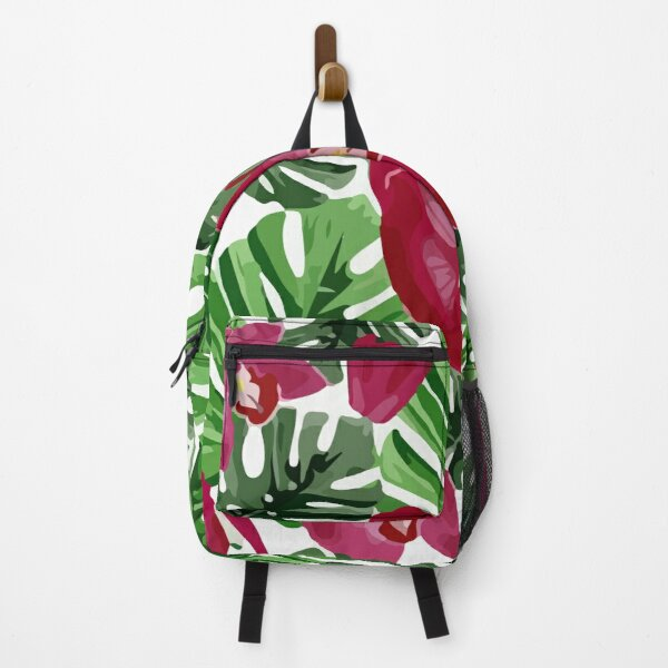 Background floral of summer leaves of palm tropical Backpack